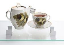enkel teapot för kopp en Royaltyfri Foto
