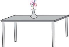 Enkel teckning av tabellen stock illustrationer