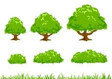 Enkel trädillustration Arkivfoton