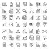 Enkel uppsättning av analytiska släkta översiktssymboler Arkivbild