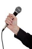enkel white för bakgrundsmikrofon Fotografering för Bildbyråer