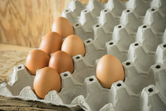 Enkelt ägg som avskiljs från gruppen Royaltyfria Foton