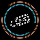 Enkelt överförande meddelande tunn linje vektorsymbol royaltyfri illustrationer