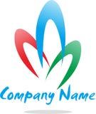 Enkelt abstrakt logoföretag Arkivfoto