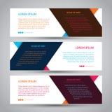 Enkelt baner för tre färg royaltyfri illustrationer