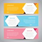 Enkelt baner för tre färg stock illustrationer