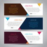 Enkelt baner för tre färg vektor illustrationer
