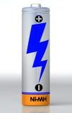 enkelt batteri Royaltyfri Fotografi
