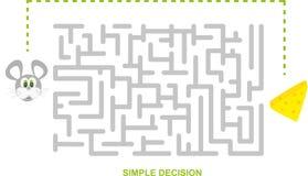 enkelt beslut stock illustrationer
