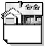 Enkelt familjhus som tecknar Arkivfoton