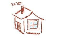 enkelt hus Arkivfoto