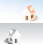 enkelt hus Arkivbilder