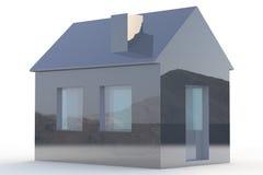Enkelt hus 3D Royaltyfri Fotografi