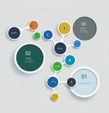 Enkelt infographic steg-för-steg molekylmalldesign Royaltyfri Fotografi