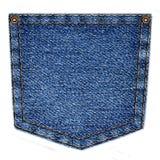 Enkelt jeansfack som isoleras på vit bakgrund Royaltyfria Bilder