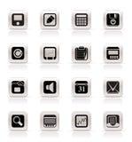 enkelt kontor för affärsfinanssymboler stock illustrationer