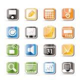 enkelt kontor för affärsfinanssymboler royaltyfri illustrationer