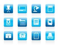 enkelt kontor för symboler för affärsfirm Royaltyfria Bilder