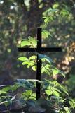 enkelt kors Arkivbild