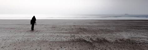 Enkelt landskap på kusten Arkivfoto