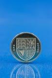 enkelt myntpund Arkivfoton