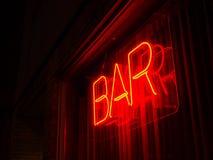 Neon bommar för undertecknar Royaltyfria Bilder