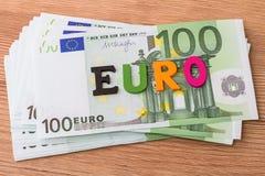 Enkelt ord - euro Royaltyfria Foton