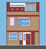 Enkelt radhus Plan stil Fotografering för Bildbyråer