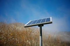 enkelt sol- för panel Royaltyfri Foto