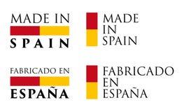 Enkelt som göras översättning för spanjor i för Spanien/Fabricado en Espana royaltyfri illustrationer