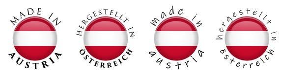 Enkelt som göras i Österrike/Hergestellt i Osterreich tysktrans. vektor illustrationer