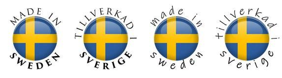 Enkelt som göras i Sverige Tillverkad I Sverige den svenska översättningen vektor illustrationer