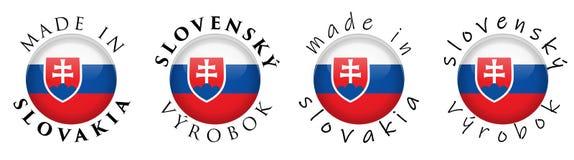 Enkelt som göras slovakisk översättning i för Slovakien/Slovensky vyrobok stock illustrationer