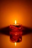 enkelt stearinljus Royaltyfri Bild