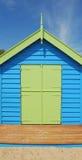 enkelt strandhus Arkivbild