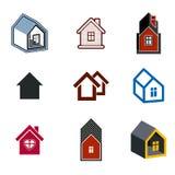 Enkelt stugasamling, fastighet och konstruktionstema Arkivbilder