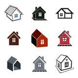 Enkelt stugasamling, fastighet och konstruktionstema Royaltyfria Bilder