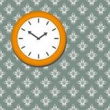 Ta tid på på seamless blom- wallpaperbakgrund Arkivbilder
