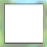 Enkelt vektorwebbläsarefönster Arkivfoto