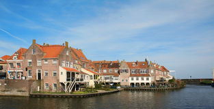 Enkhuizen. Houses in Enkhuizen. Historic fishing village in the Netherlands stock photo