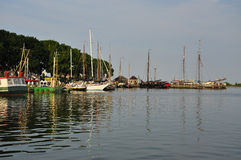 Enkhuizen harbour, the Netherlands Royalty Free Stock Image