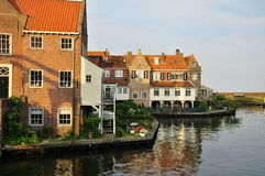 Enkhuizen dutch village waterfront, the Netherland Stock Photography
