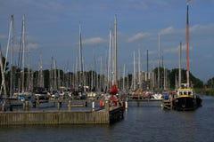 Enkhuizen the Netherlands - harbor stock photography