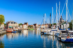 Enkhuizen, Noord-Holland, Netherlands. The port of the old fishing town of Enkhuizen. Enkhuizen is known as the `Herring City `because of its past as a center stock image