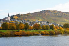 Enkirch on Moselle. Wine village Enkirch on Moselle in Germany Royalty Free Stock Photos