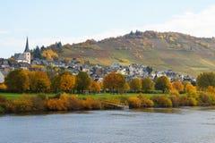 Enkirch på Moselle Royaltyfria Foton