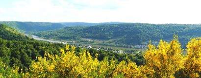 Enkirch und Koevenig Panorama. Enkirch und Koevenig an der Mosel Panorama royalty free stock image