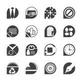 Enkla affärs- och kontorssymboler för kontur Royaltyfria Bilder