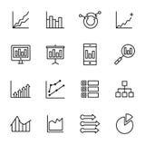 Enkla analyssymboler Arkivbilder