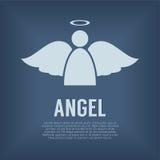 Enkla Angel Symbol Royaltyfri Foto